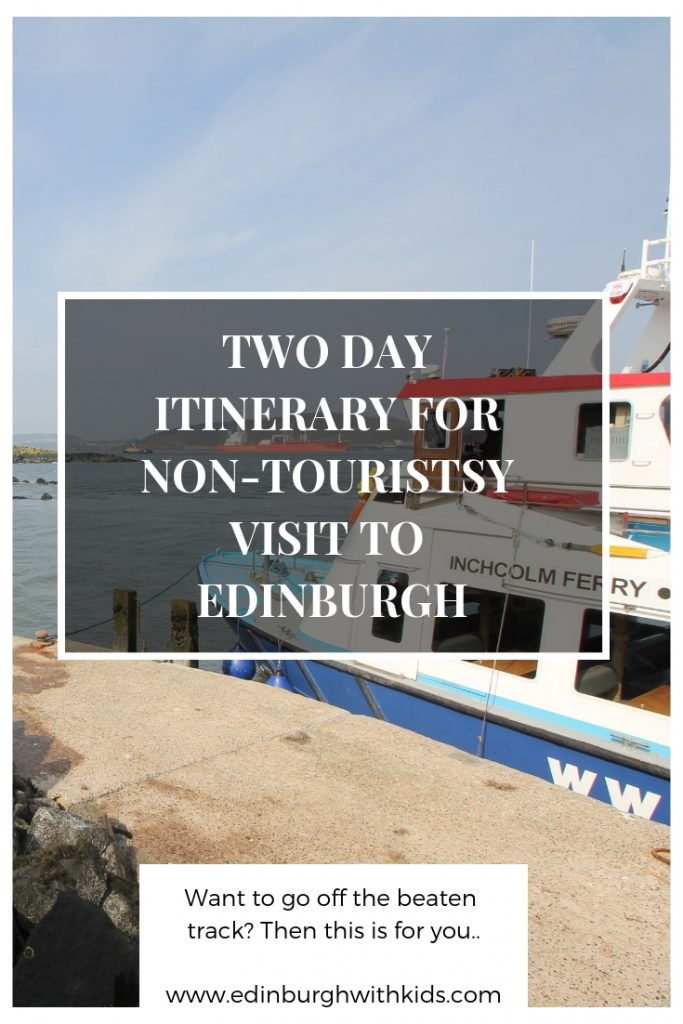 Two Day Family Itinerary For A City Break In Edinburgh that avoids the tourists traps and takes you off the beaten track. Head out of the city and explore the world beyond the city limits, keeping young children, and parents, relaxed.